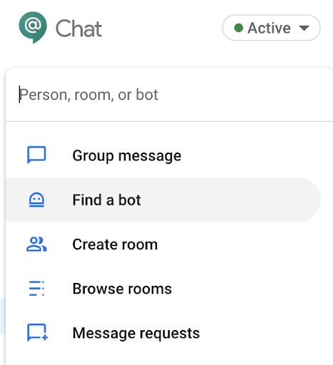 Menu add Bot